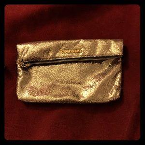 NWT VS Gold Sparkle Clutch